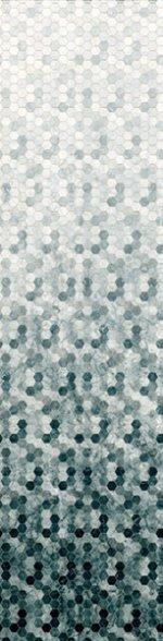 Pewter Hexagon Ombre- Backsplash 2.0 - Digital Print by Hoffman California Fabrics