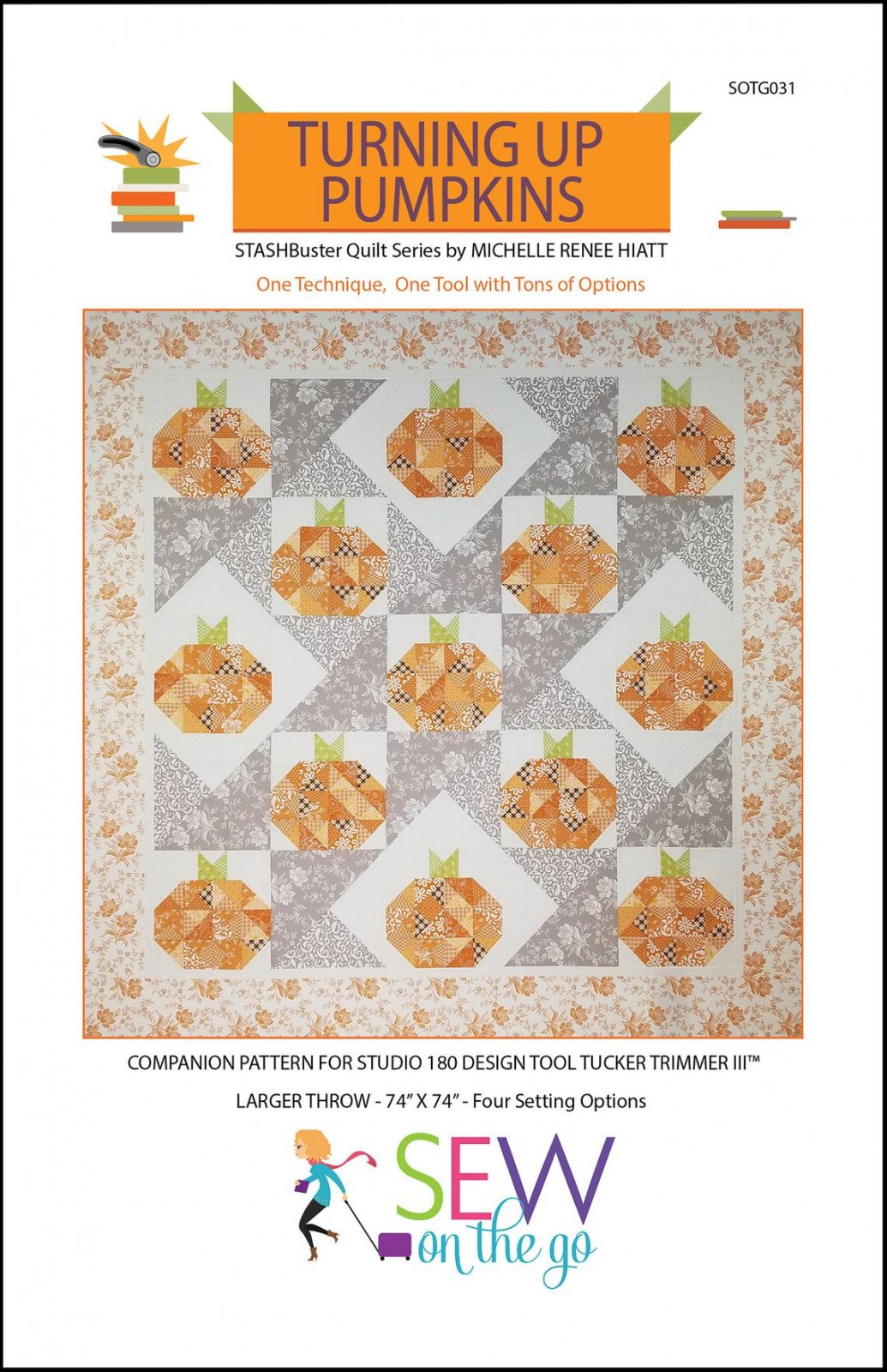 Turning Up Pumpkins pattern by Sew On the Go