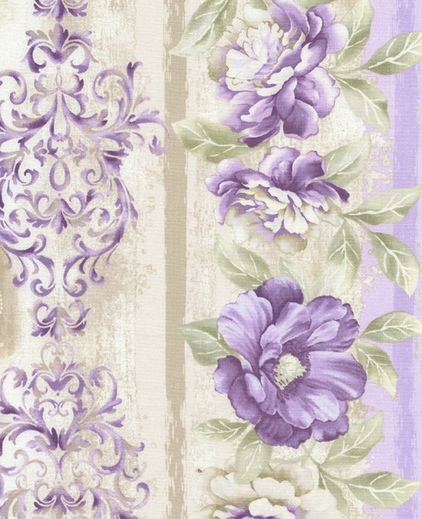 Veranda - Purple and Beige Boarder