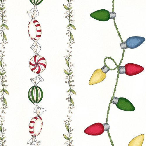 Christmas Joys Flannel border prints