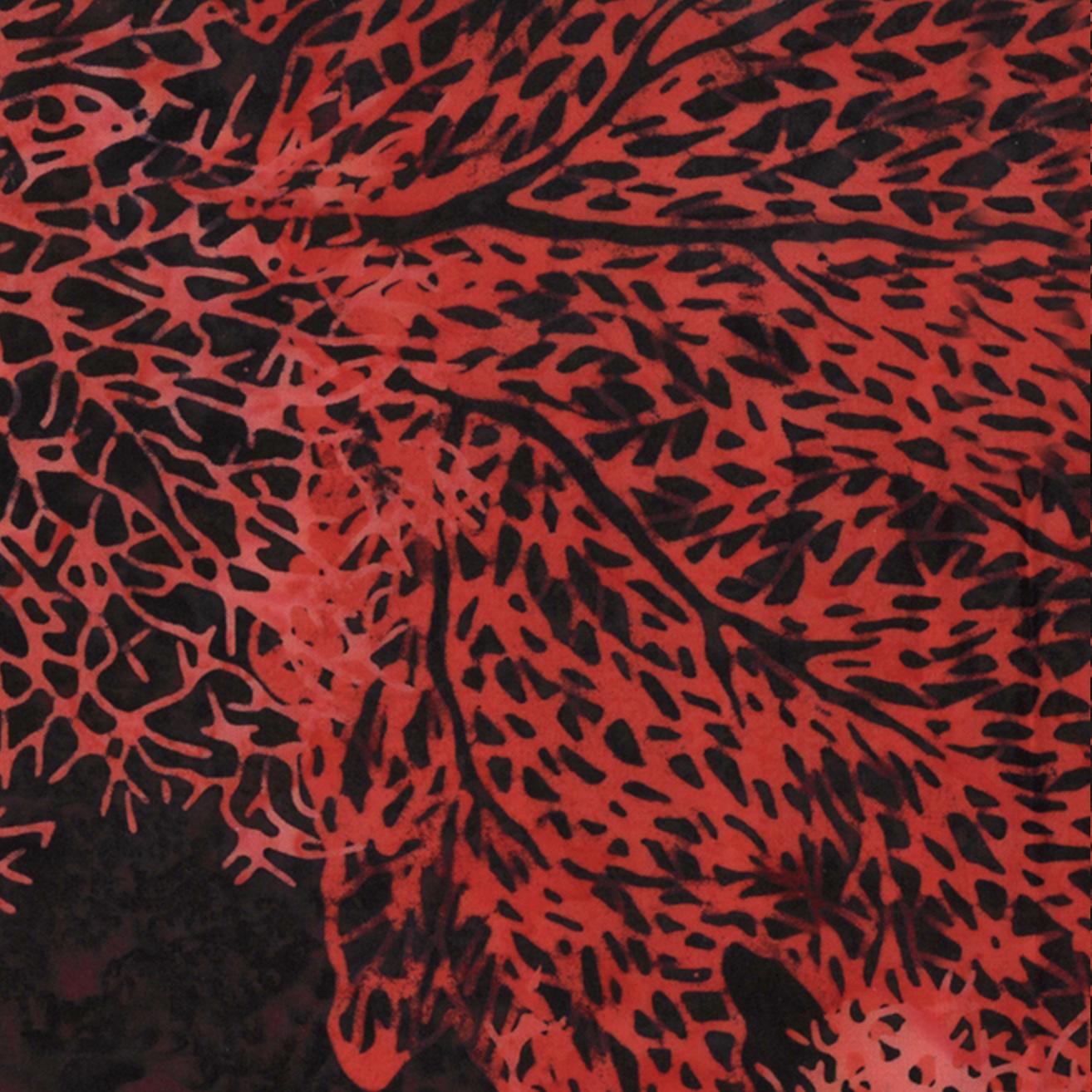 Bali Batiks Large Coral Flame