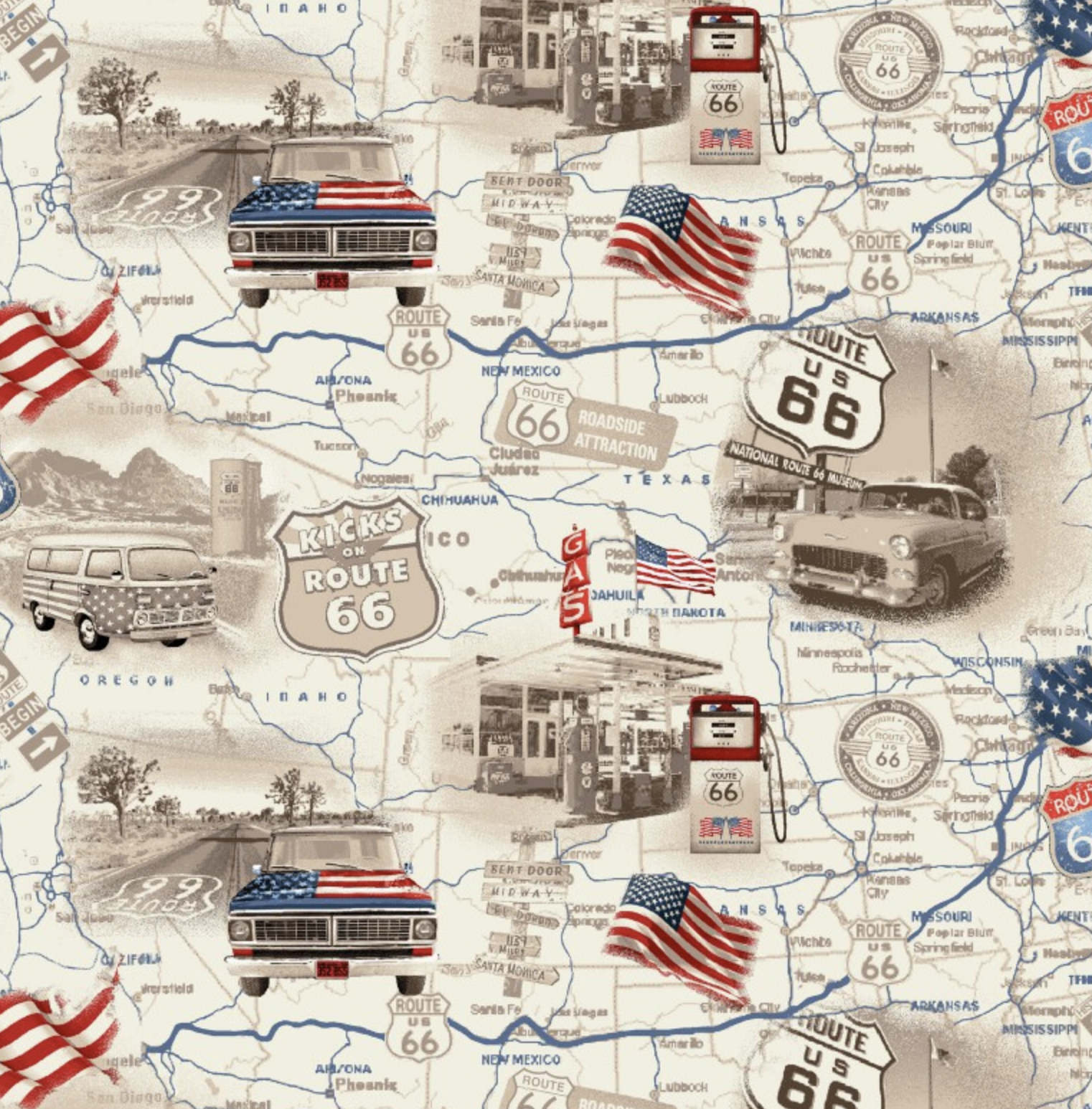 All-American Road Trip by Studio E Fabrics
