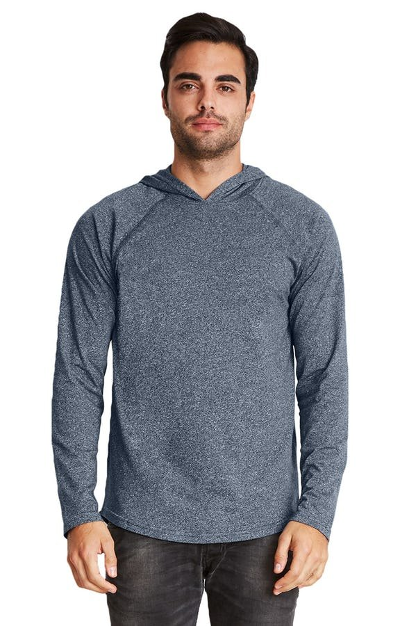Next level- Heathergray Twist Raglan Hoody