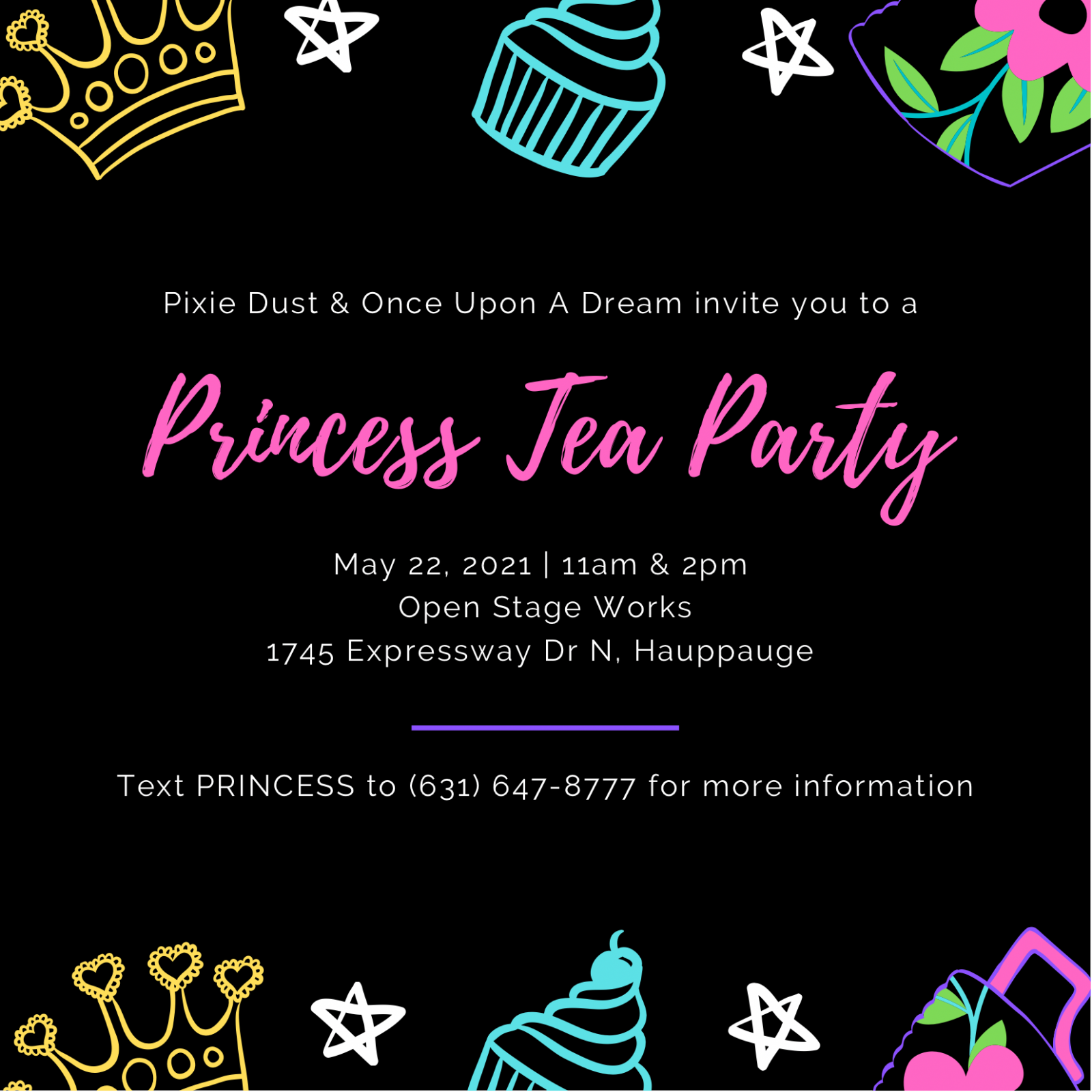 Princess Tea Party Sibling Ticket