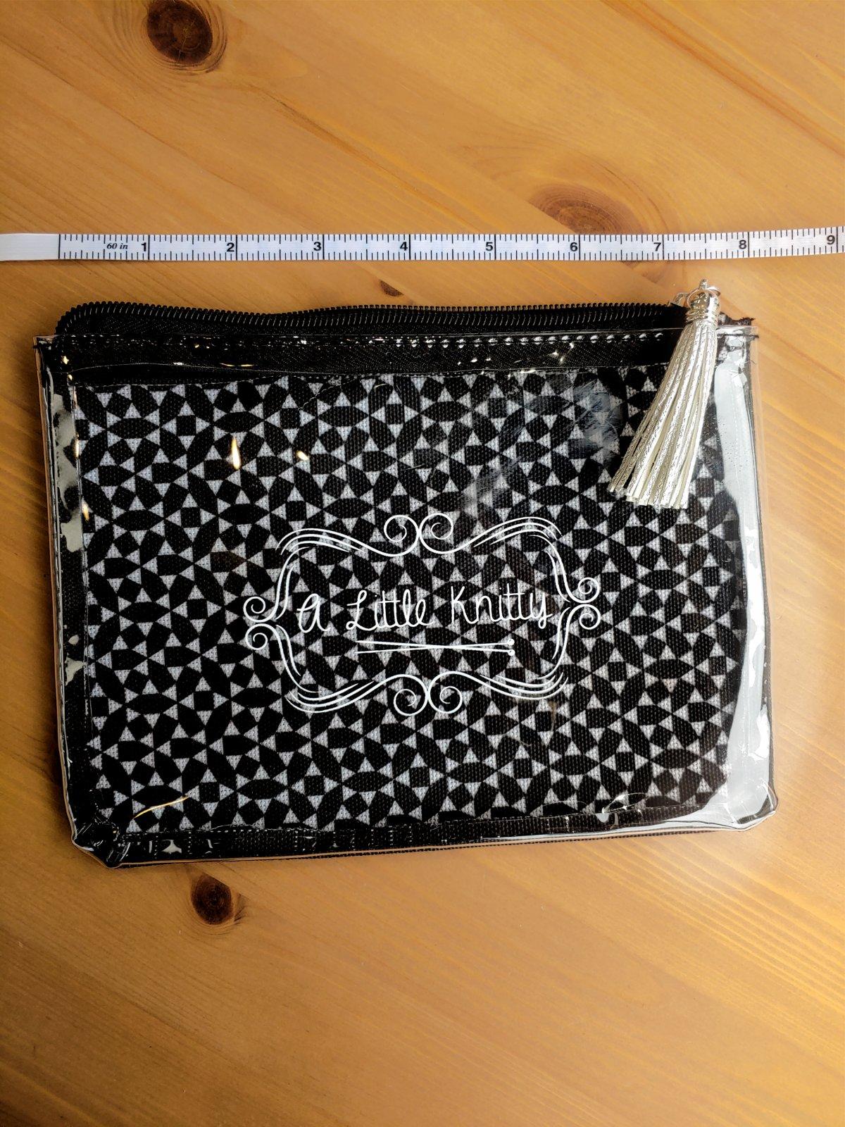 A Little Knitty See-Thru Notions Bag