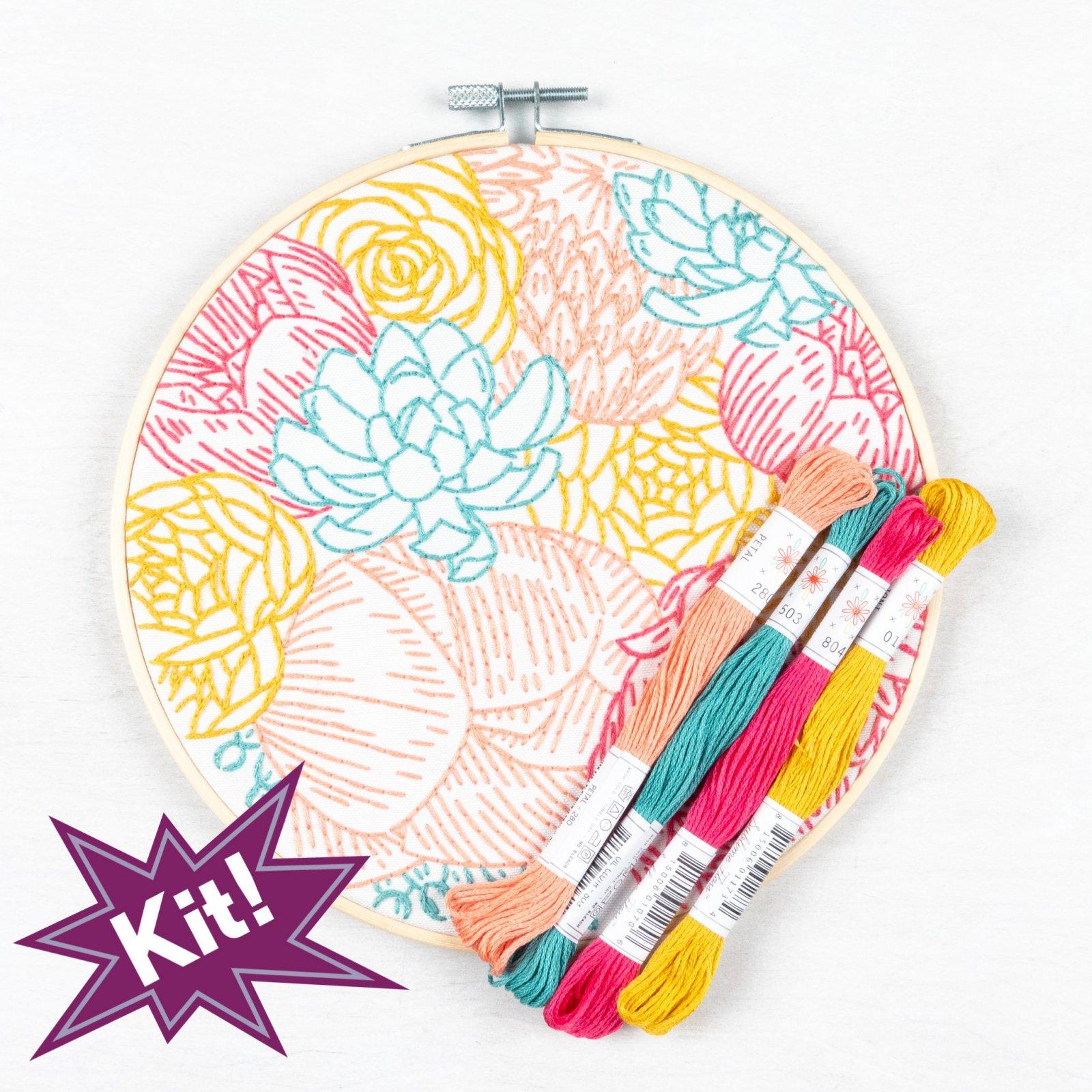 PopLush Embroidery Kits