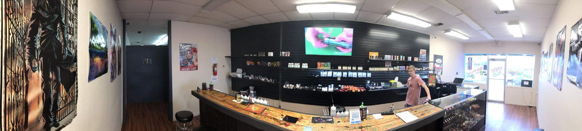 Sulphur Springs Vape Bar Wide Angle Shot