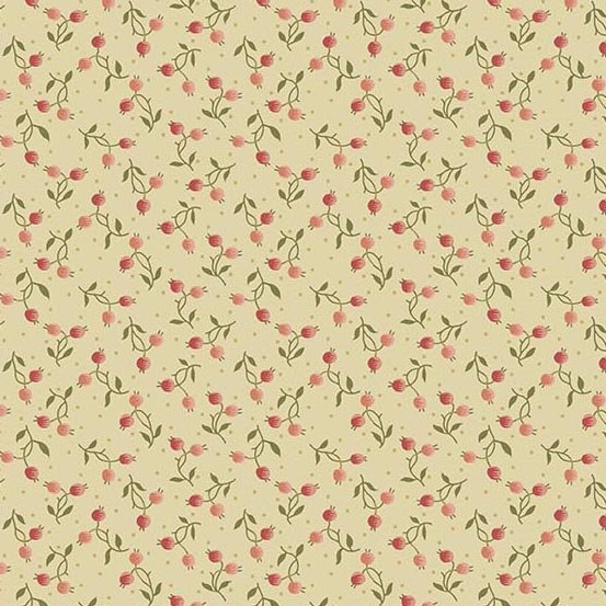 Andover Bed of Roses Berry Bisque by Edyta Sitar from Laundry Basket Quilts