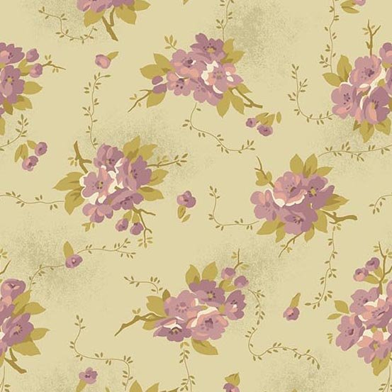 Andover Bed of Roses Dahlia Greige by Edyta Sitar from Laundry Basket Quilts