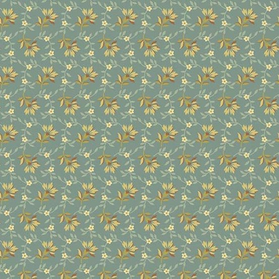 Andover Bed of Roses Lazy Day Dusty Teal by Edyta Sitar from Laundry Basket Quilts