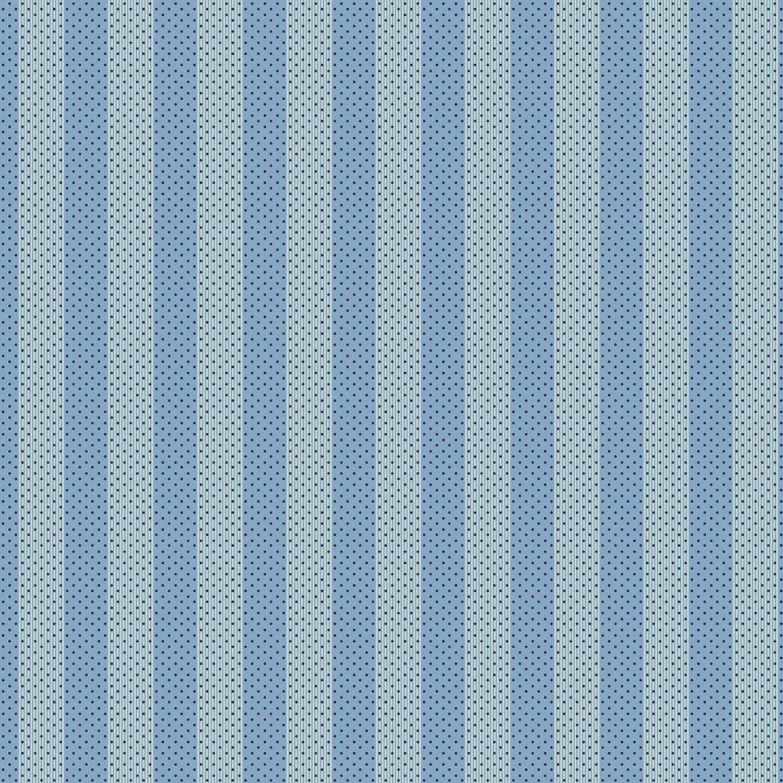 Benartex Bonnie Lane Blue Awning Stripe by Pat Sloan (6705B-50).