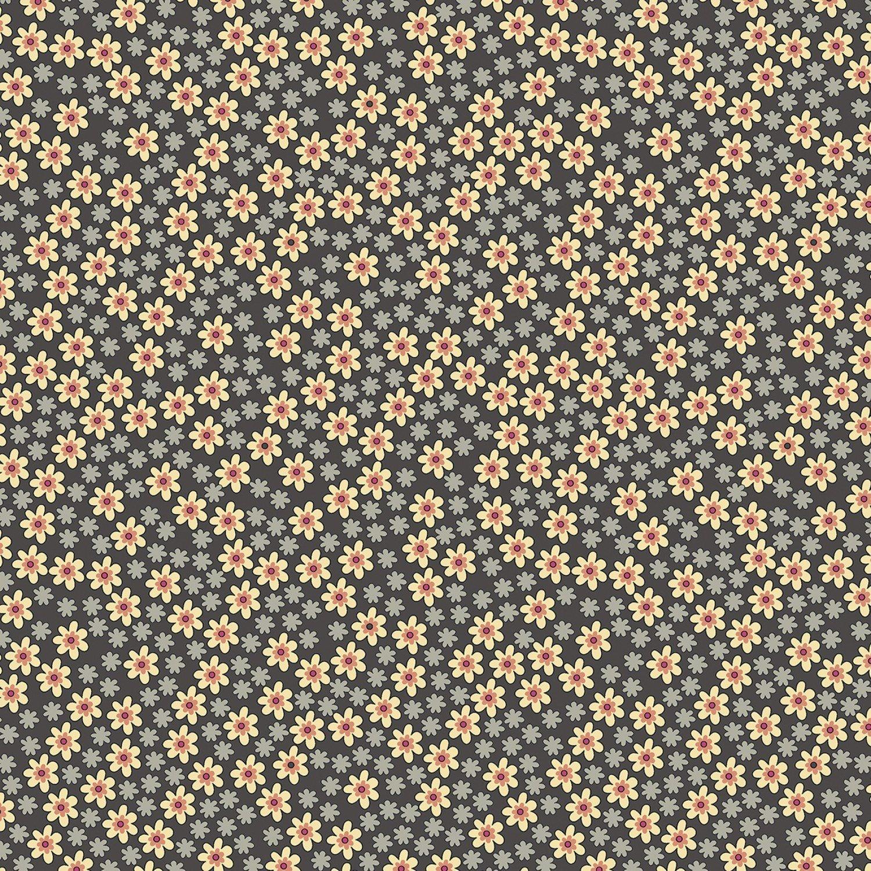 Benartex Bonnie Lane Grey Apron Pearlized by Pat Sloan (6706PB-08).
