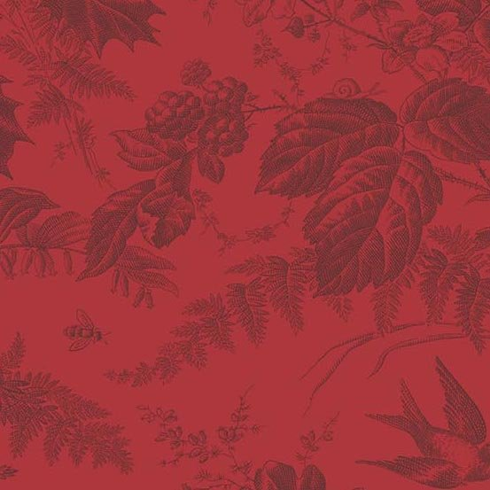 Andover Braveheart Toile Crimson Main by Edyta Sitar from Laundry Basket Quilts