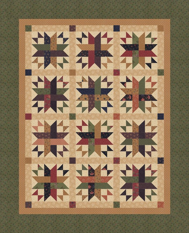 Moda Milestones Woven Dreams Box Kit (60x74) by Kansas Troubles Quilters