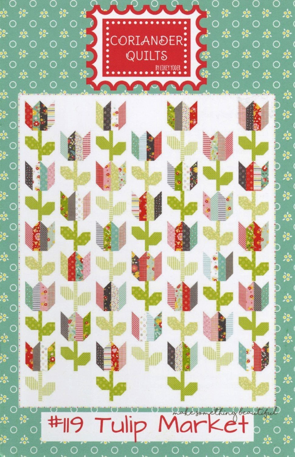 Tulip Market Jelly Roll Pattern by Corey Yoder from Coriander Quilts