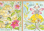 For the Love of Bees - Honey Bee Panel (12 x 44)