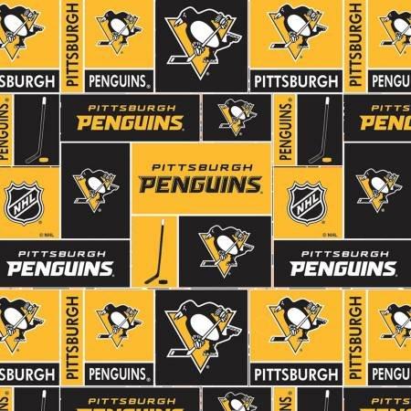 NHL Hockey Pittsburgh Penguins Fabric