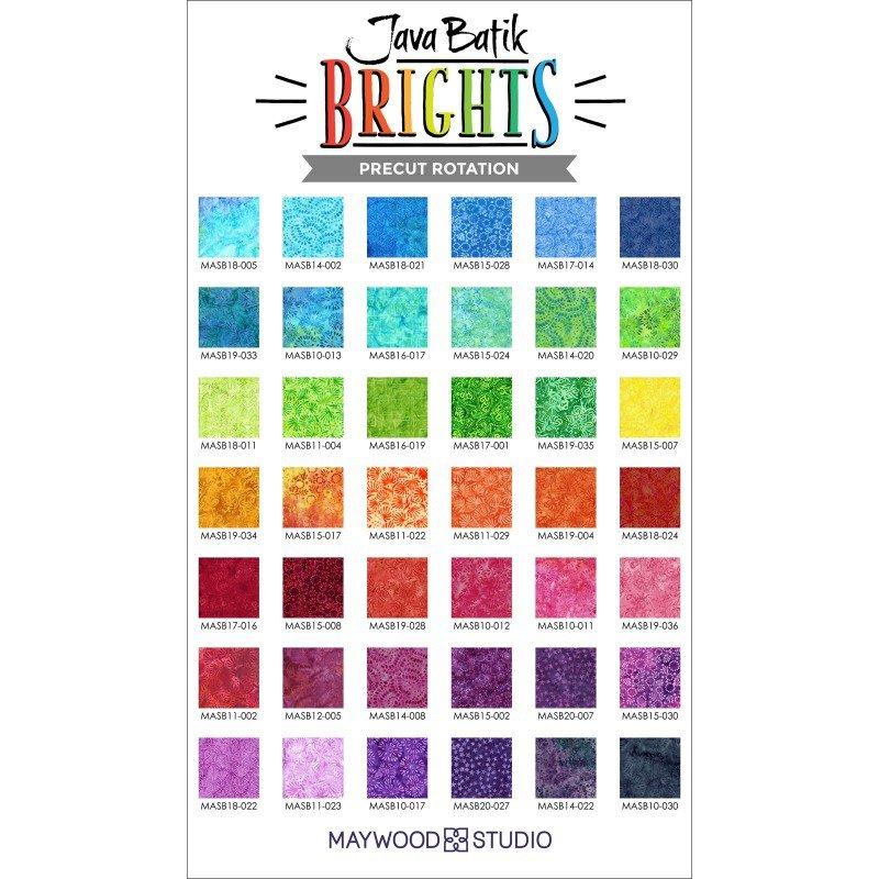 Java Batik Brights - 40 2 1/2 fabric strips