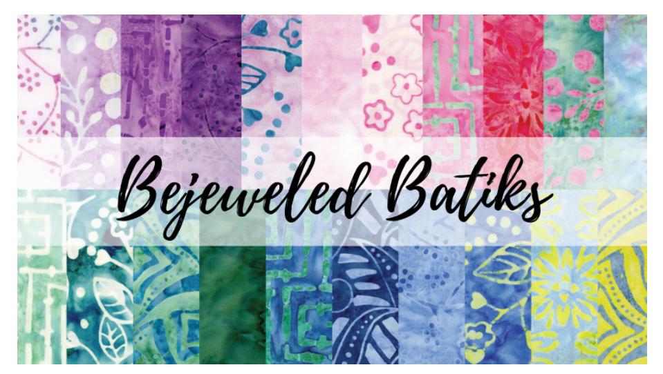 Bejeweled Batiks 42 piece charm pack