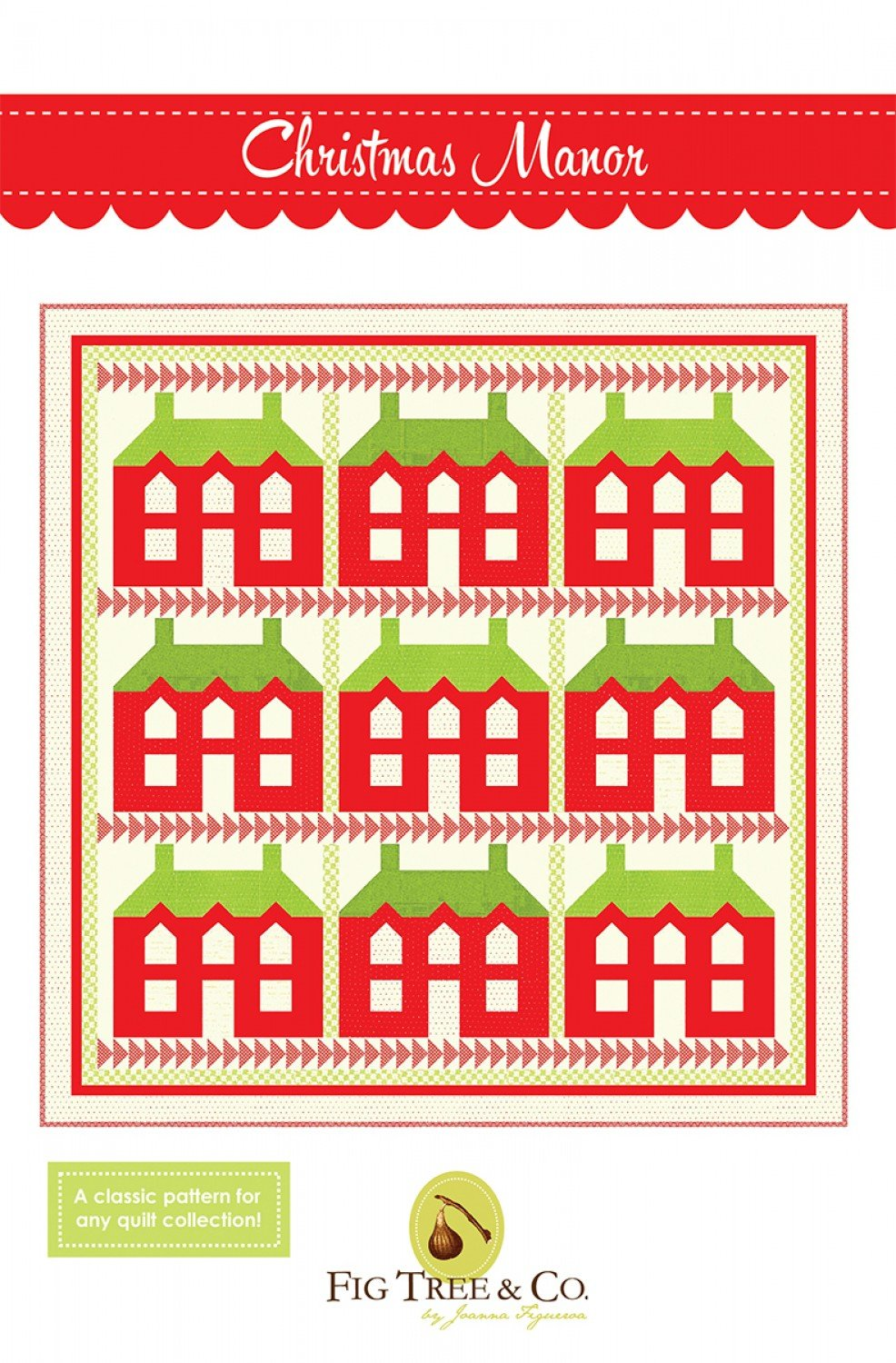 Christmas Manor Quilt Pattern