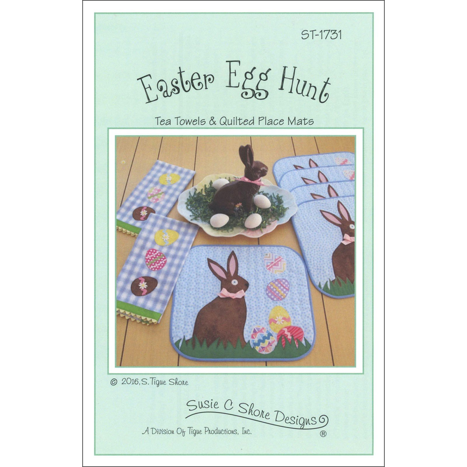 Easter Egg Hunt Tea Towels & Quilted Place Mats Pattern