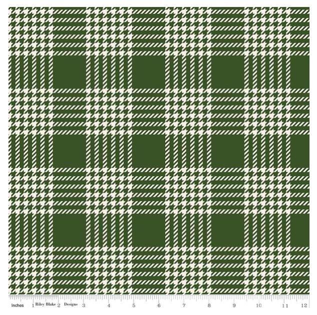 Yuletide Christmas Green Plaid Flannel by Riley Blake