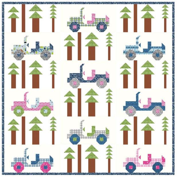Jeeps Quilt Pattern by Kelly Fannin