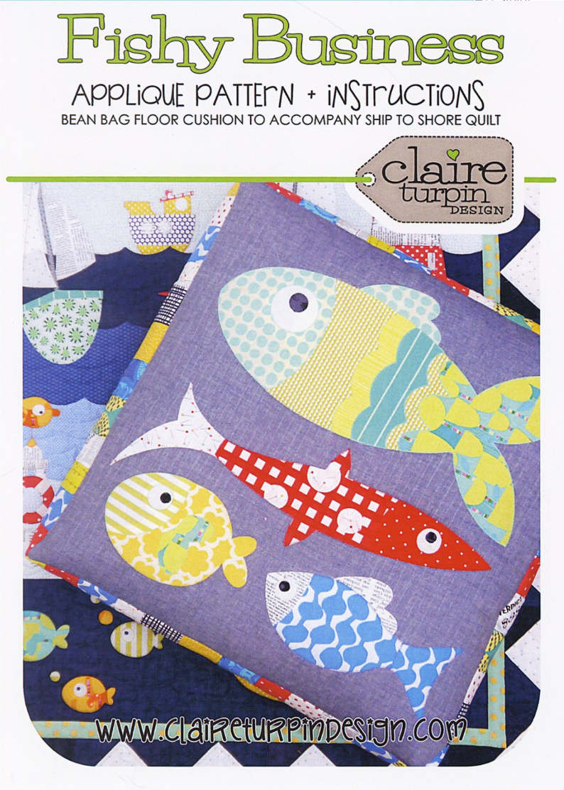Fishy Business Quilted Bean Bag Floor Cushion Pattern