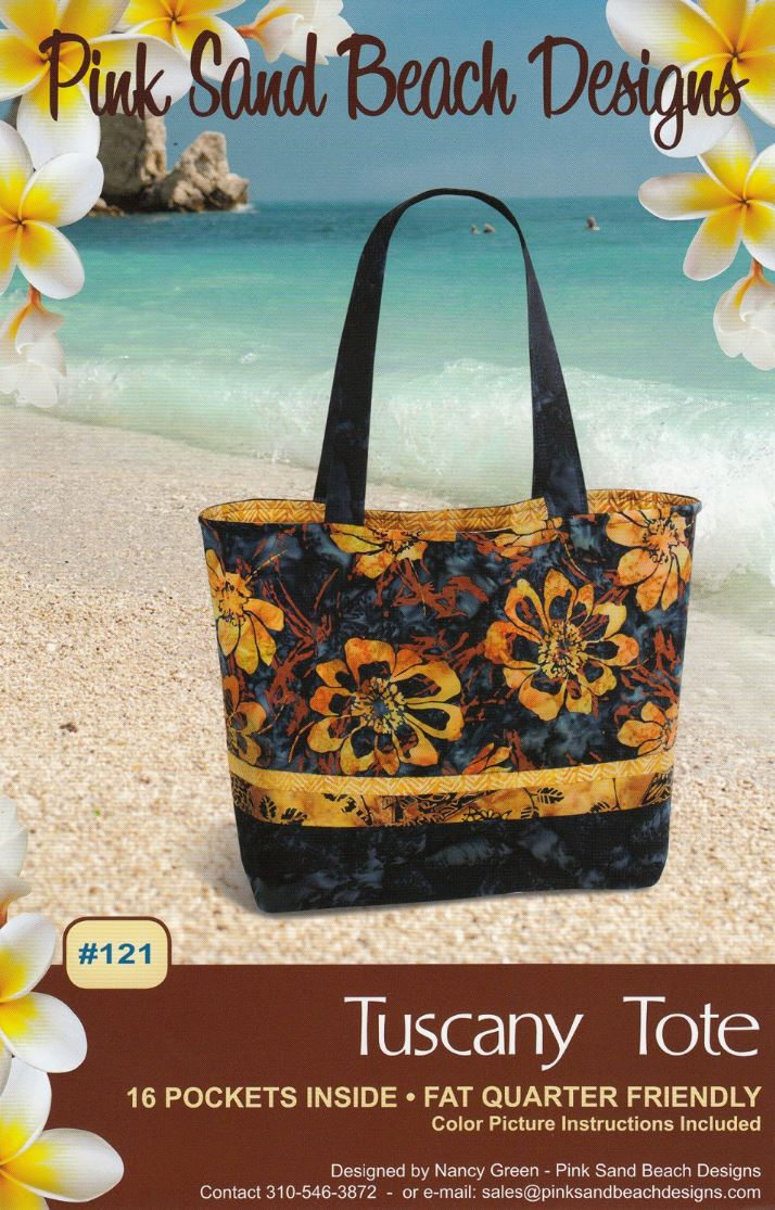 Tuscany Tote Quilt Pattern - Fat Quarter Friendly