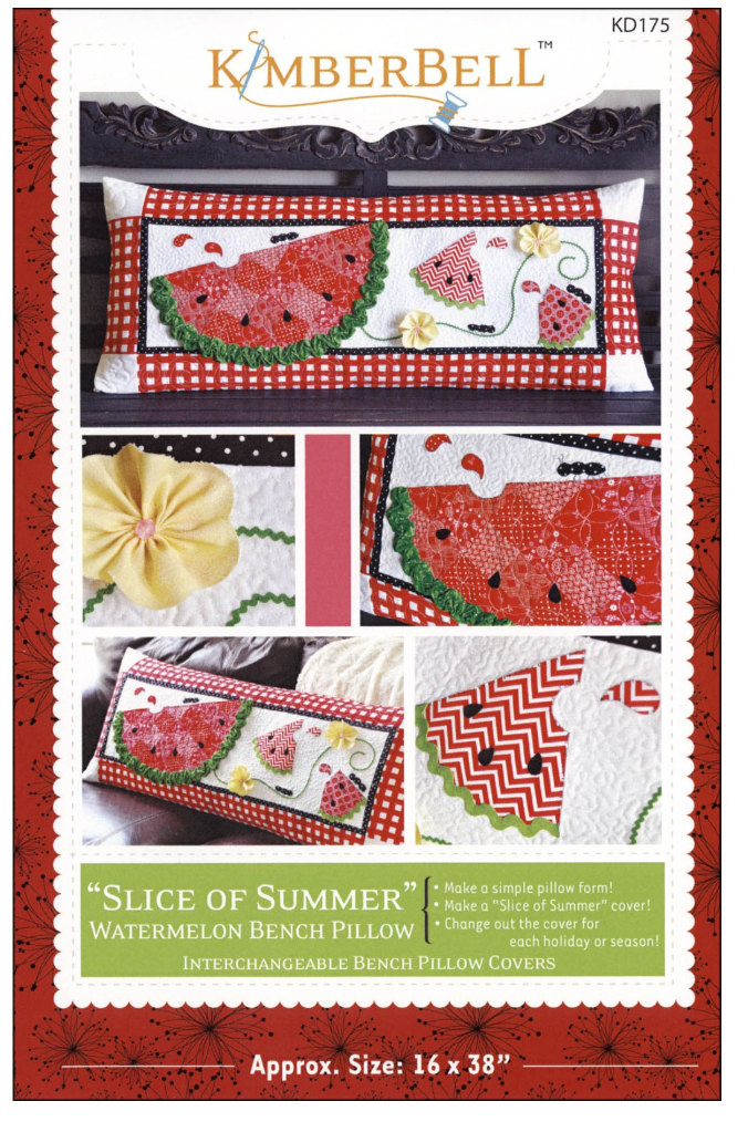 Slice of Summer Quilted Bench Pillow Pattern