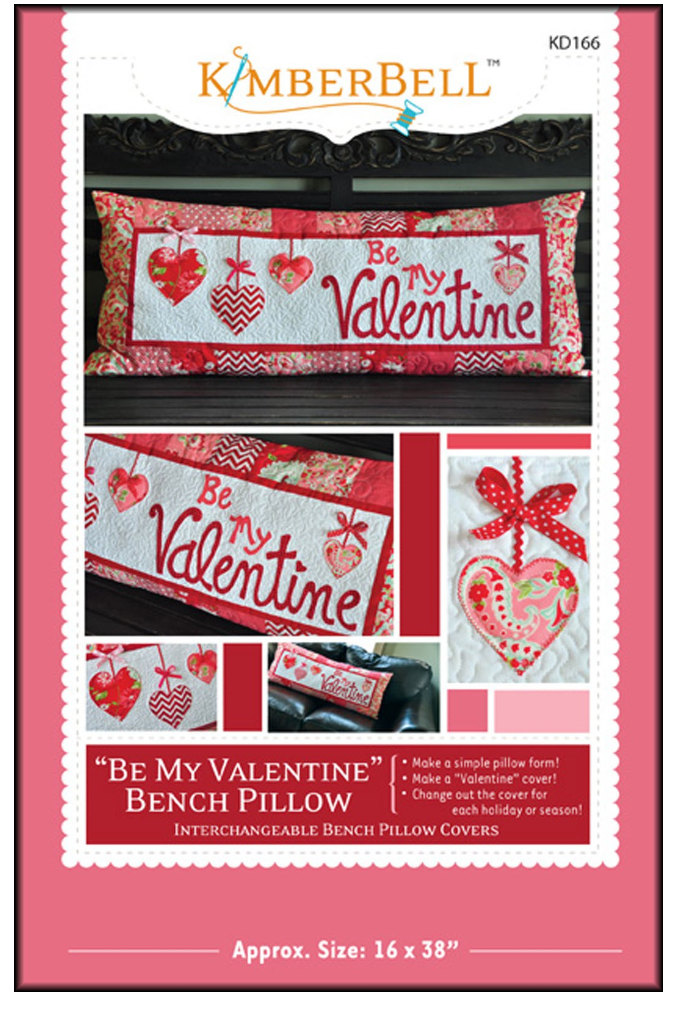 Be My Valentine Quilted Bench Pillow Pattern