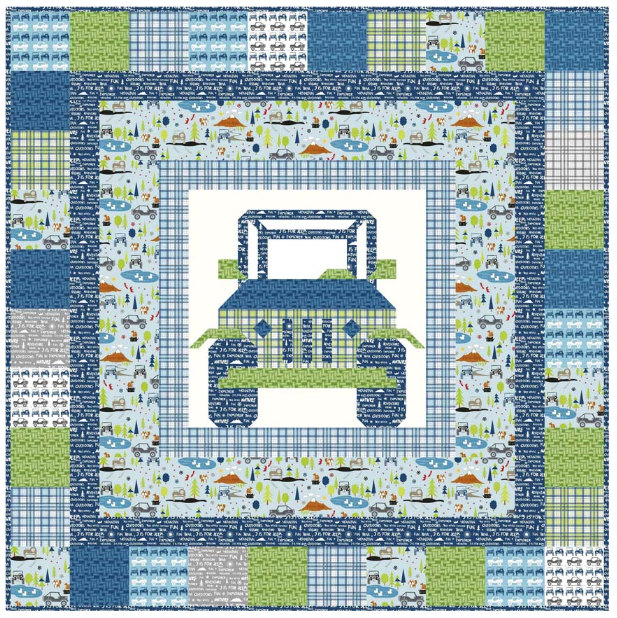 Off Road Quilt Pattern by Kelly Fannin (Jeep Quilt)