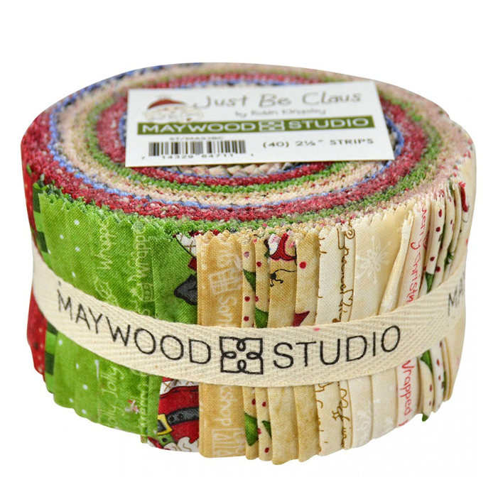 Just Be Claus 40 2 1/2 Strips by Maywood Fabrics