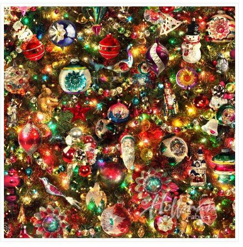 Hoffman Fabrics Ornaments Digitally Printed Fabric