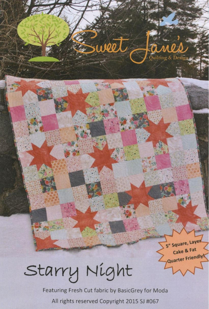 Starry Night Quilt Pattern by Sweet Jane's