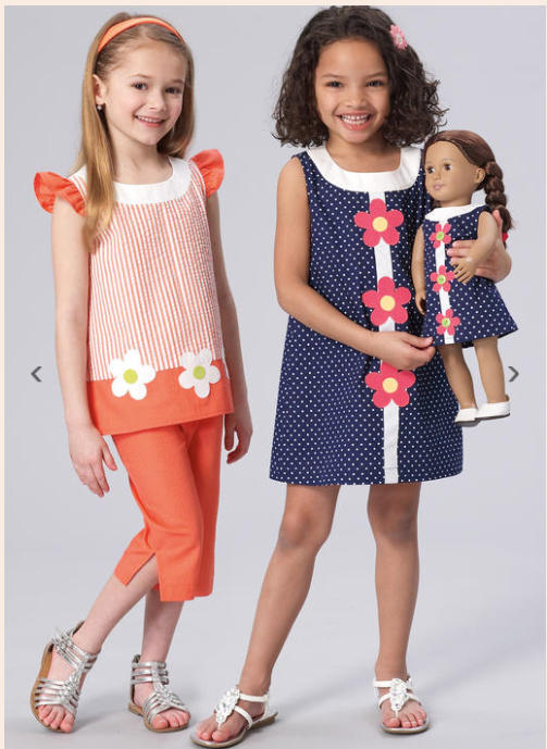 Flower Time Dress, Pants and Top Patterns by Ellie Mae
