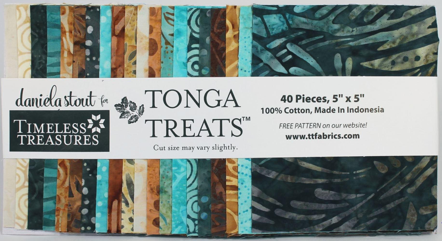 Tonga Treats True Love 5 square batiks - 40 pieces