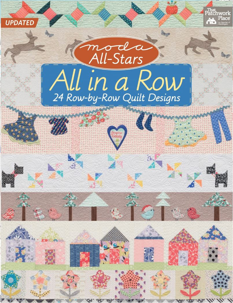 All in a Row Quilt Pattern Book - 24 Row by Row Quilt Designs
