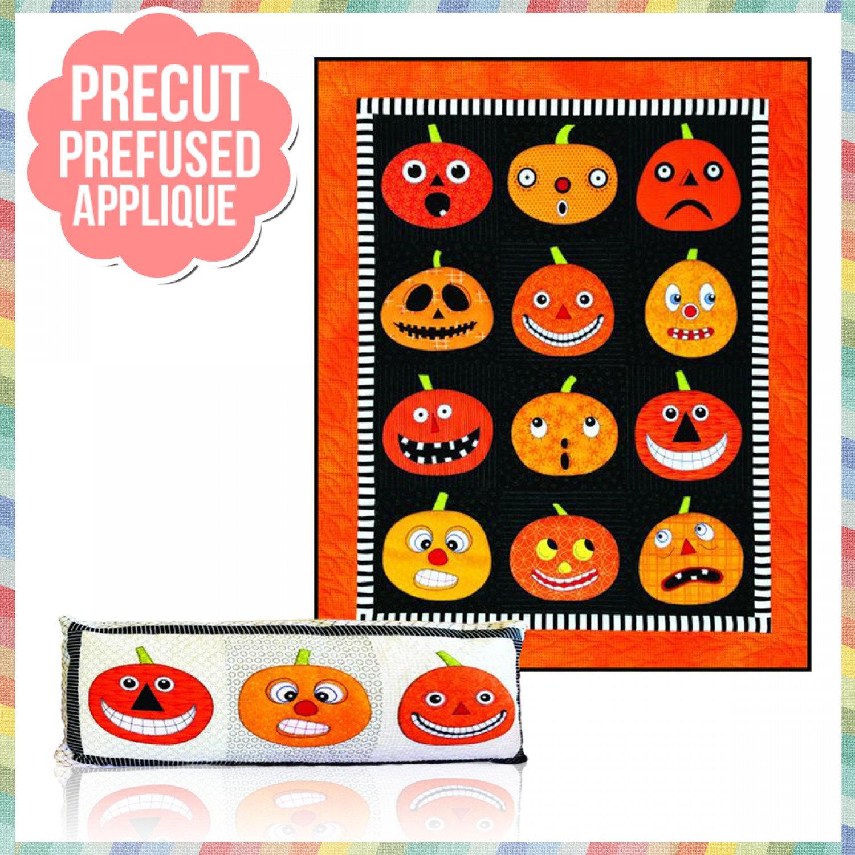 Pumpkins Quilt Pattern Kit - Applique Pumpkins Cutouts Included