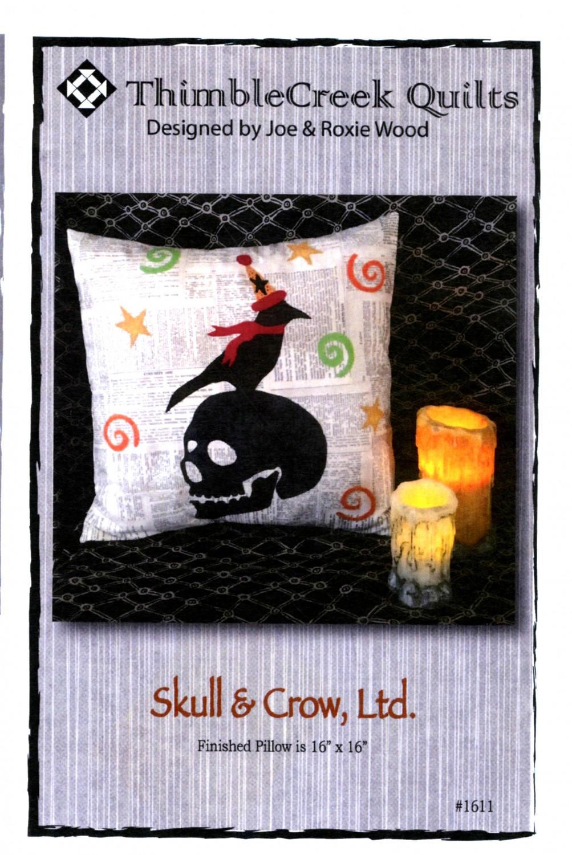 Skull & Crow Halloween Pillow Pattern
