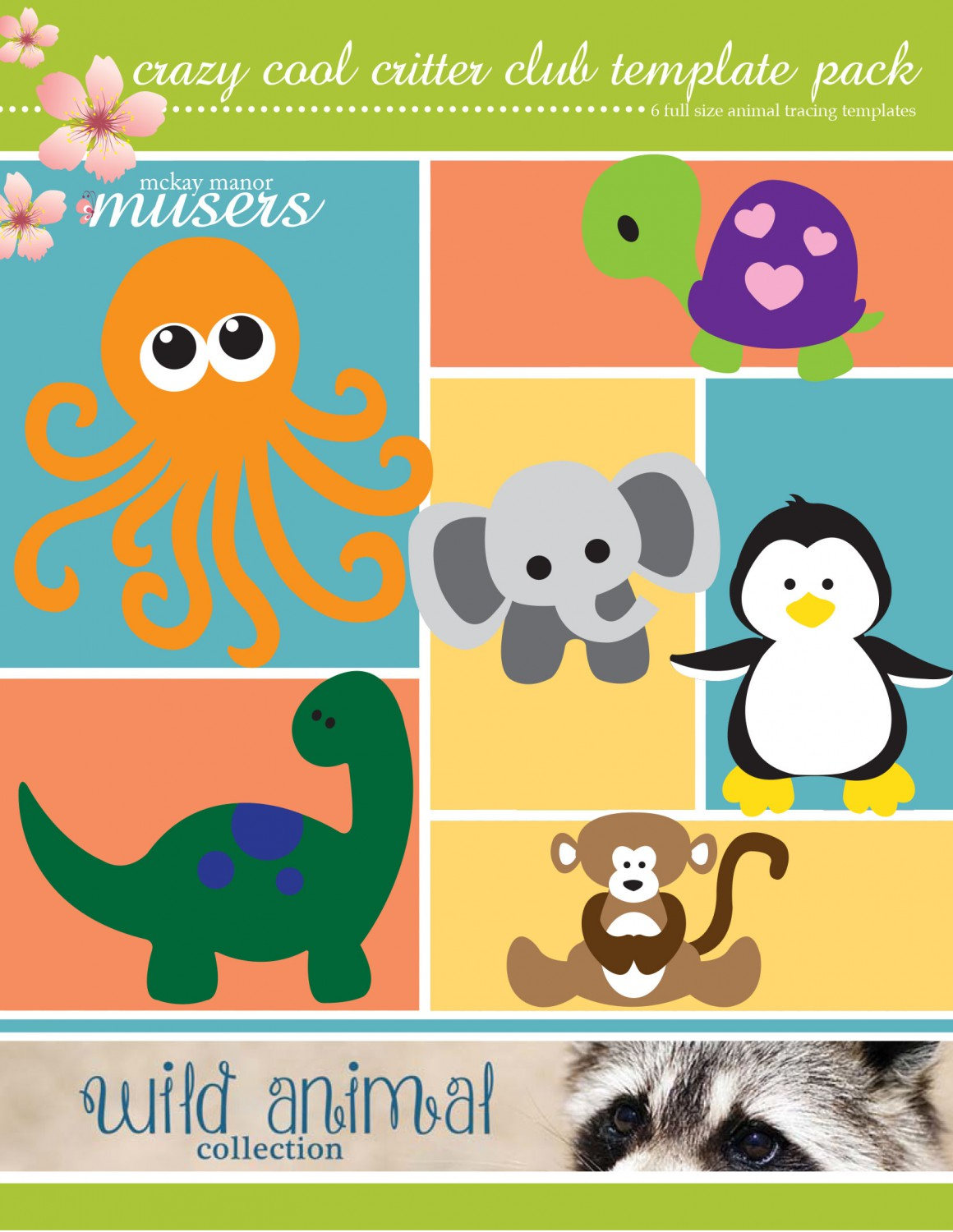Crazy Cool Critter Templates - Wild Animal Collection