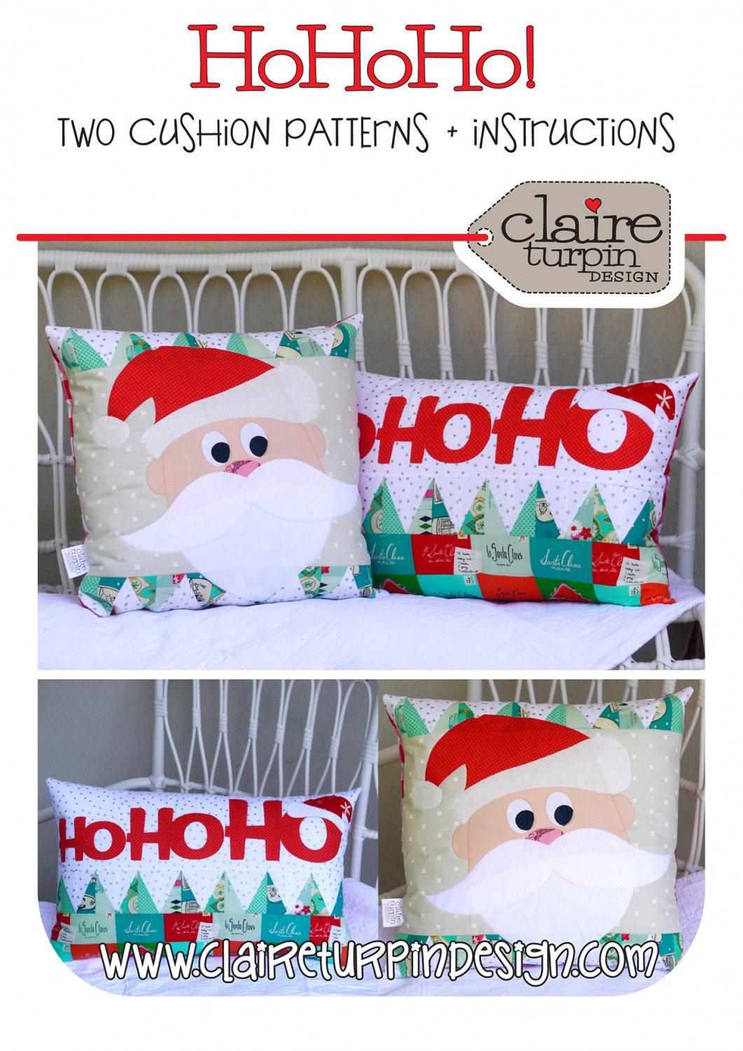 Ho Ho Ho Quilted Pillow Patterns
