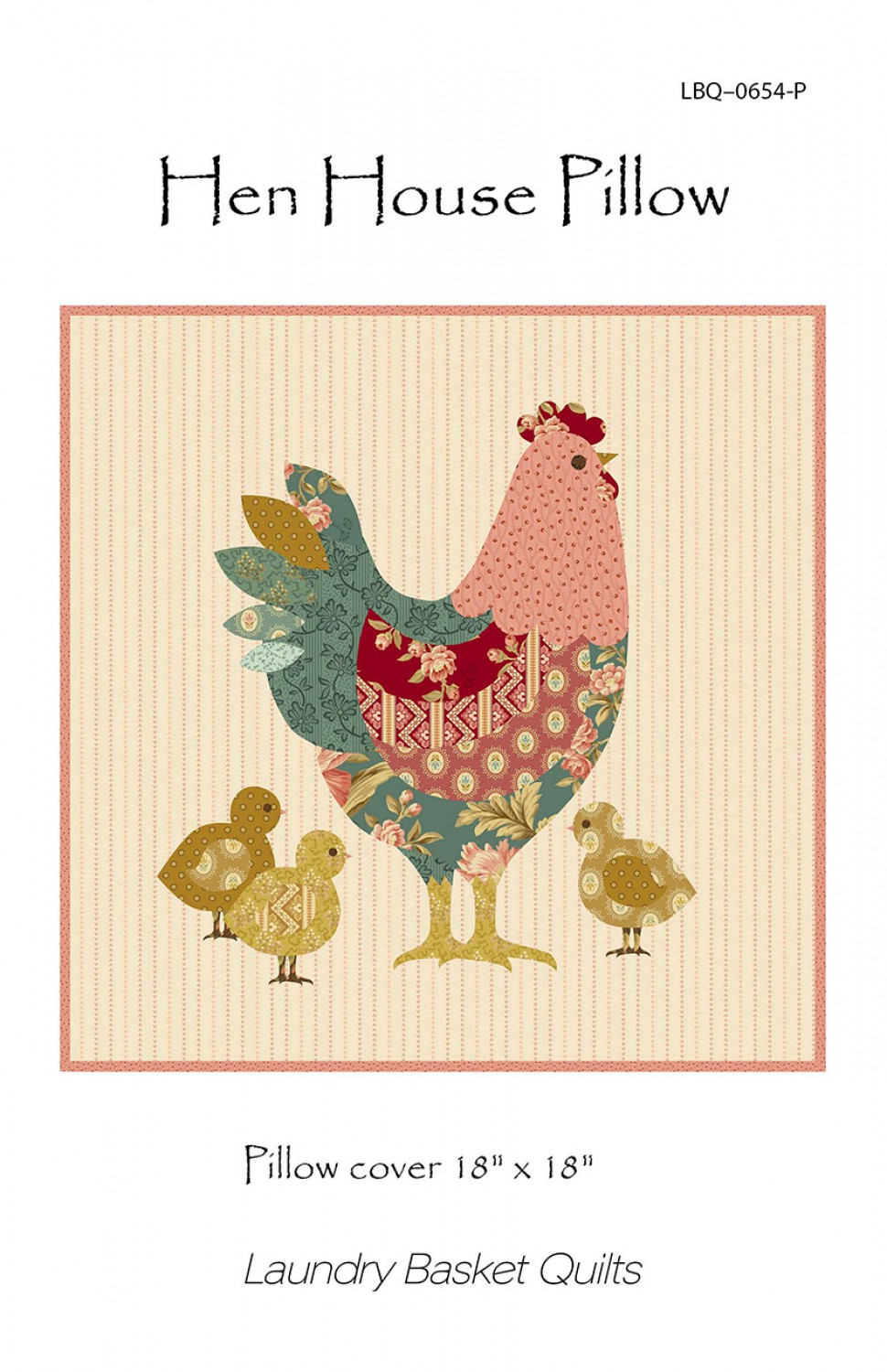 Hen House Quilted Pillow Pattern