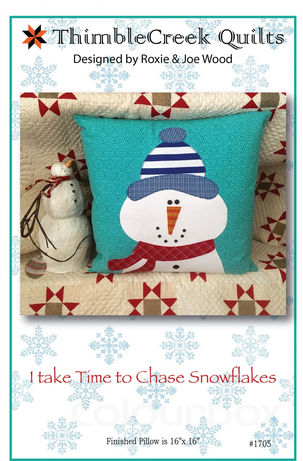 I Take Time to Chase the Snowflakes Quilted Pillow Pattern