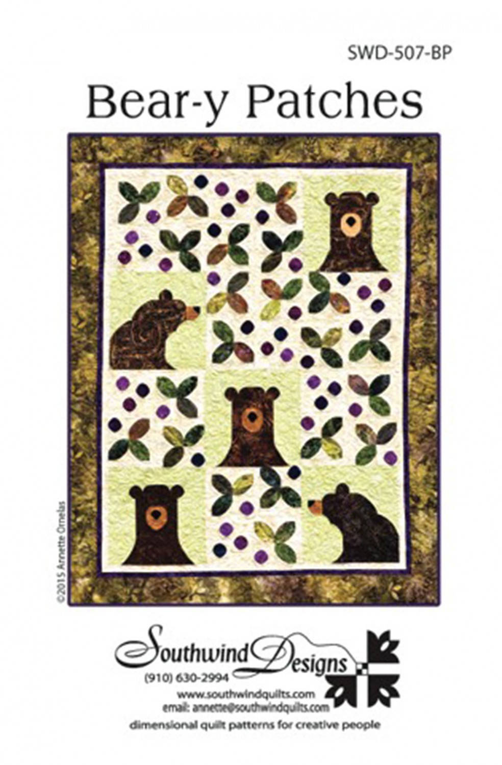 Beary Patches Quilt Pattern