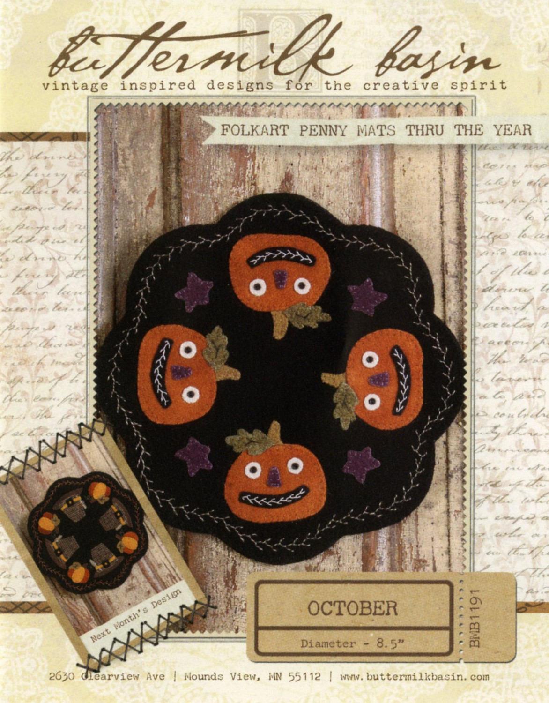 October Wool Halloween Quilt Pattern by Buttermilk Basin