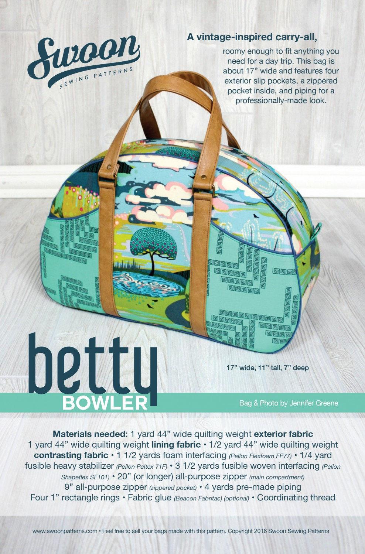 Betty Bowler Tote Pattern