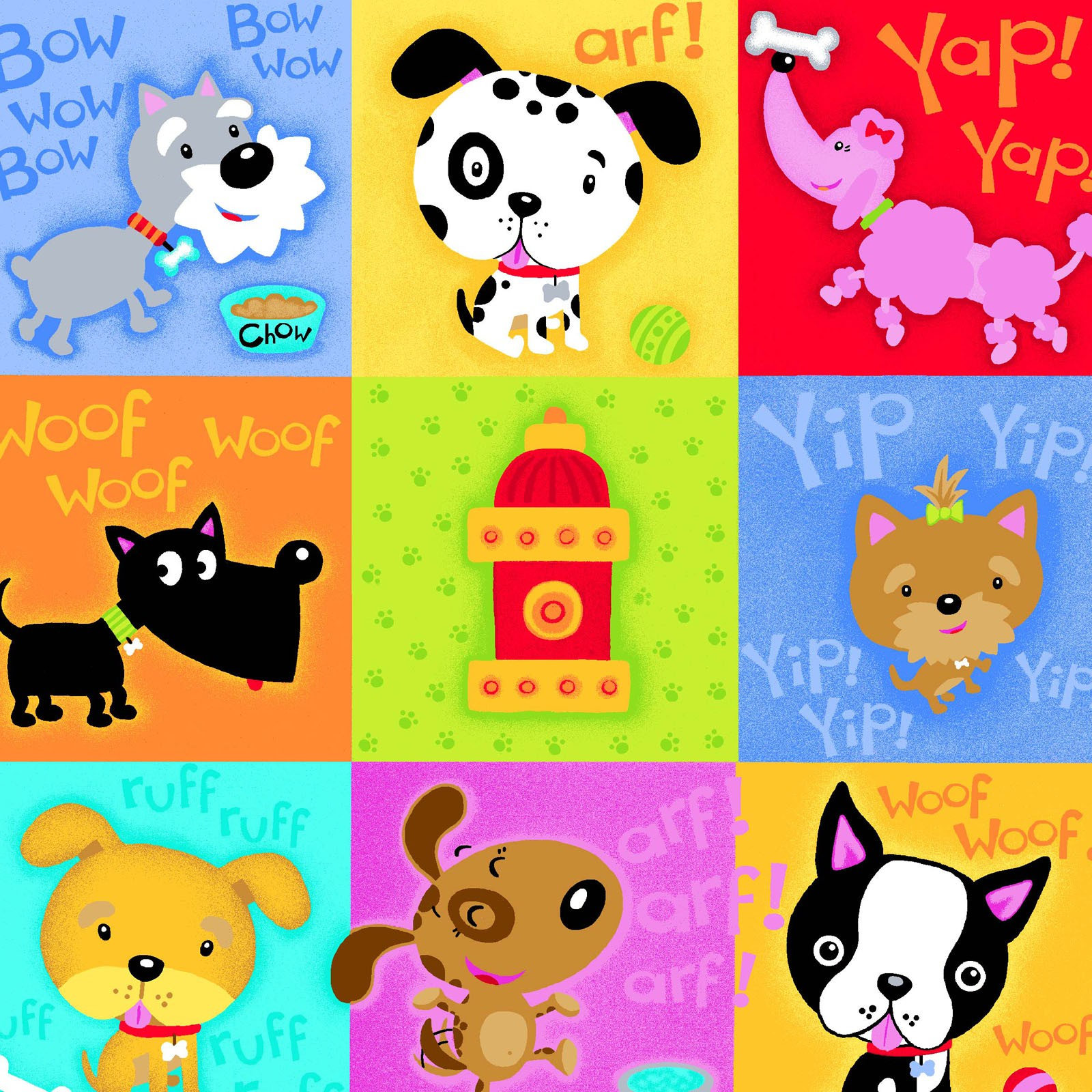 Puppy Flannel Fabric