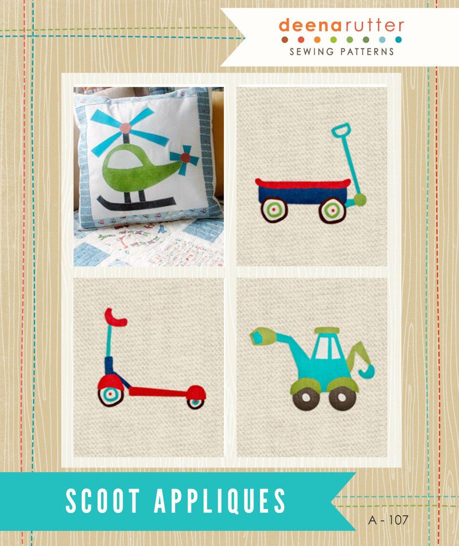 Scoot Applique Pattern