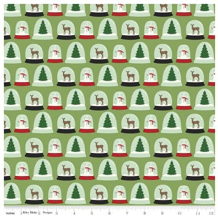 Christmas Snow Globes Quilt Fabric
